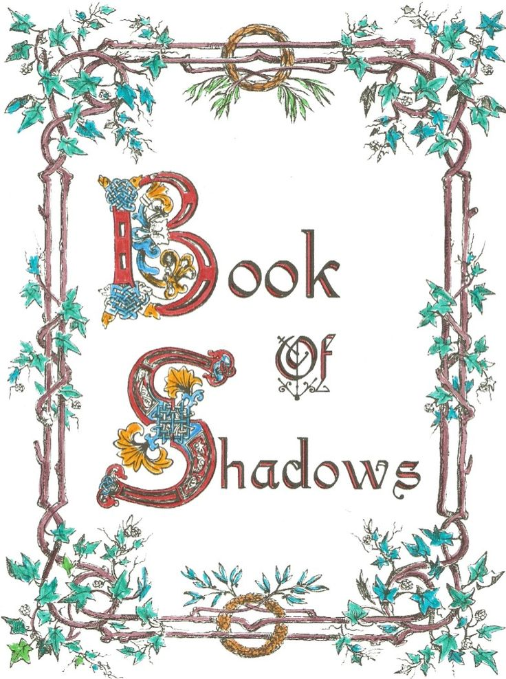 Punchy image intended for free printable book of shadows pages