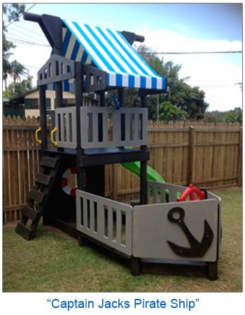Cubby house pirate ship theme http://www.4kidsnmore.com