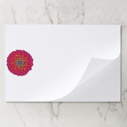 Dahlia Flower Endless Eye Abstract Paper Pad  $27.07  by flowerplantsdesign  - cyo customize personalize diy idea