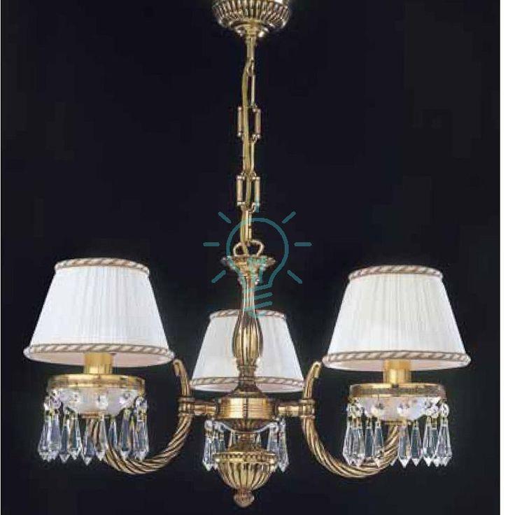 Żyrandol złoty przezroczyste kryształy Ferrara_Clear - LampyTanie - 2076,15 PLN