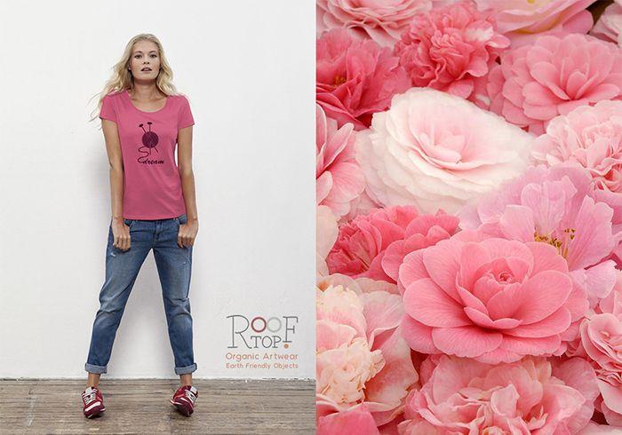 We love camelia pink!!! www.etsy.com/listing/217073165/yarn-dream-organic-cotton-women-tshirt?ref=shop_home_active_2