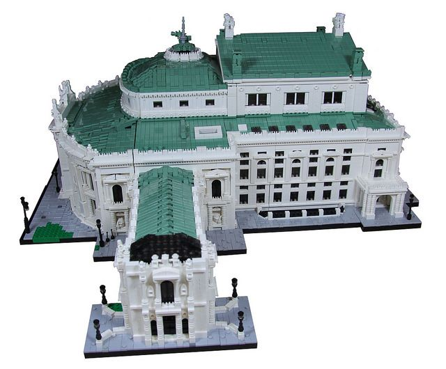Burgtheater (1741, restored after WWII in 1955) in Vienna, Austria. LEGO model by LF_kofi. More info about the real building at https://en.wikipedia.org/wiki/Burgtheater