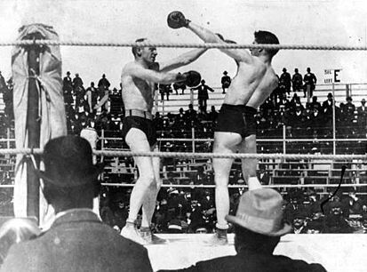 The Corbett-Fitzsimmons Fight, a documentary directed by Enoch J. Rector. The first film shot in widescreen. At an hour and 40 minutes, it is the first known feature film ever made.