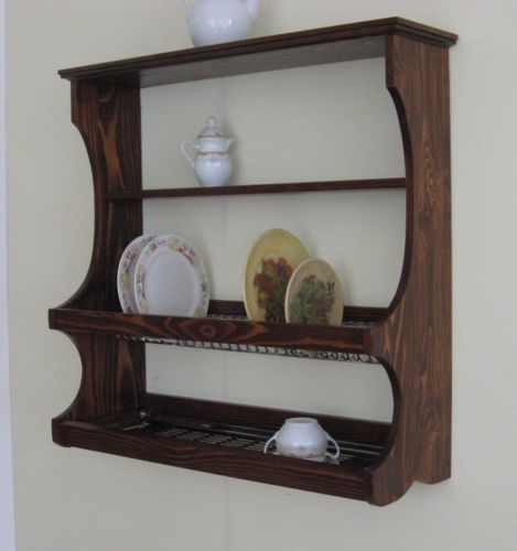 piattaia mensola rustica scolapiatti legno rustico cucina taverna giardino abete | eBay