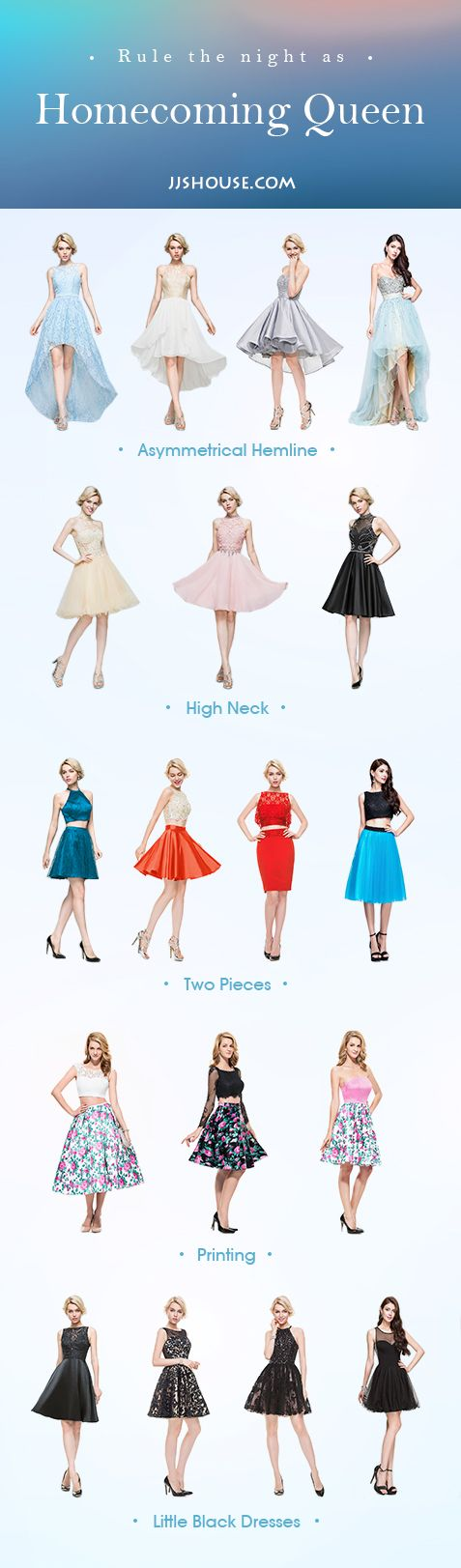 Rule the night as Homecoming Queen! 2016 New Homecoming Dresses Added. #JJsHouse