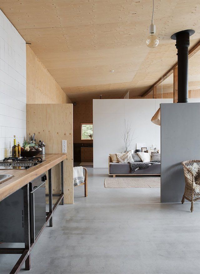 Plywood walls. They carry a special kind of warmth in an interior. Here are a few interiors that embrace the wooden wall trend. I'm in love.
