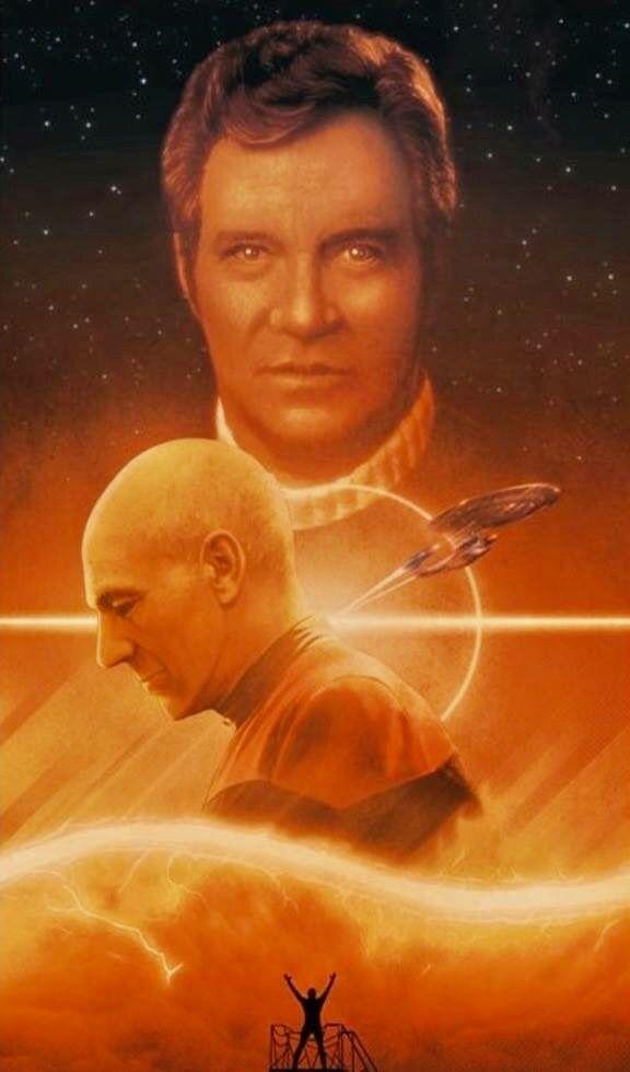 Star Trek ~ Generations...  James T. Kirk & Jean Luc Picard