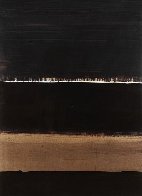 Pierre Soulages (French, b. 1919), 1998 - G,1998. Brou de noix on cardboard, 102.5 x 74cm.