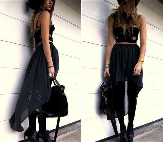 Black Assym Skirt Price: TBA Shonz Fashion