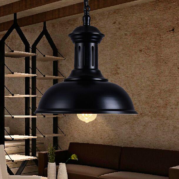 Dia * 33 см американский промышленный лофт старинные подвесной светильник для столовой железа черный E27 эдисон лампы светильник украшения дома(China (Mainland))