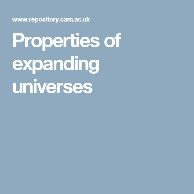 Properties of expanding universes by Stephen Hawking: This thesis has been made openly available with the kind permission of Professor Stephen Hawking. #PhDThesis