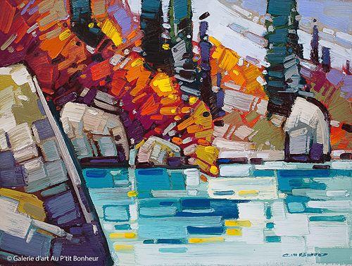Cameron Bird, 'Moraine Lake Edge', 12'' x 16''   Galerie d'art - Au P'tit Bonheur - Art Gallery