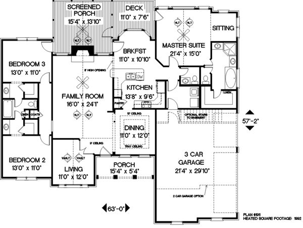 Luxury 2000 Sq Ft House Plans with Basement