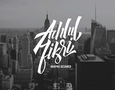 """Check out new work on my @Behance portfolio: """"Personal Branding - Achlul Fikri"""" http://on.be.net/1gsZ3Mx"""