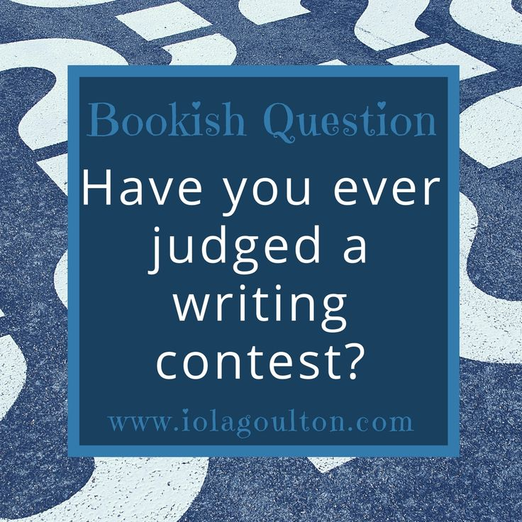 Bookish Question #12: Have you judged a writing contest?