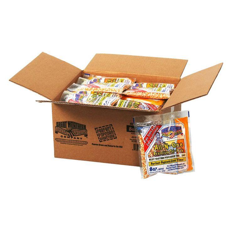 Great Northern Popcorn 8 oz. Popcorn Portion Packs - Case of 40 - 4108
