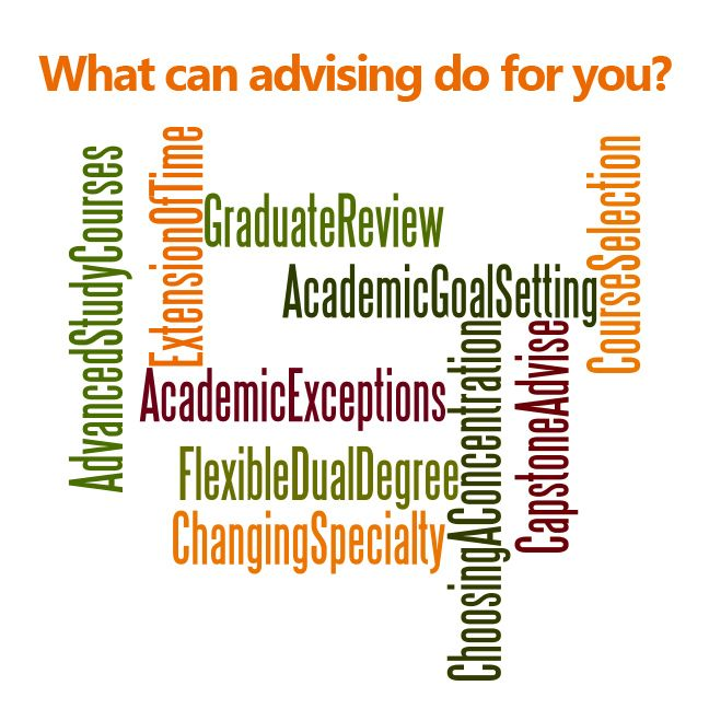 What can advising do for you?