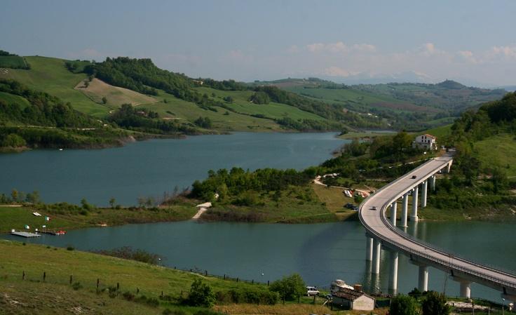 Lago di Cingoli, province of Macerata , Marche region Italy