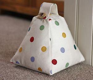 Handmade-Emma-Bridgewater-Fabric-Door-stop-Doorstop-Polka-Dot-Scatter-Heart