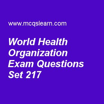 Practice test on world health organization, general knowledge quiz 217 online. Practice GK exam's questions and answers to learn world health organization test with answers. Practice online quiz to test knowledge on world health organization, equinoxes and solstices, sun facts, thermosphere, heart worksheets. Free world health organization test has multiple choice questions as world health organization is a recognized member of, answers key with choices as un security council, world food ..
