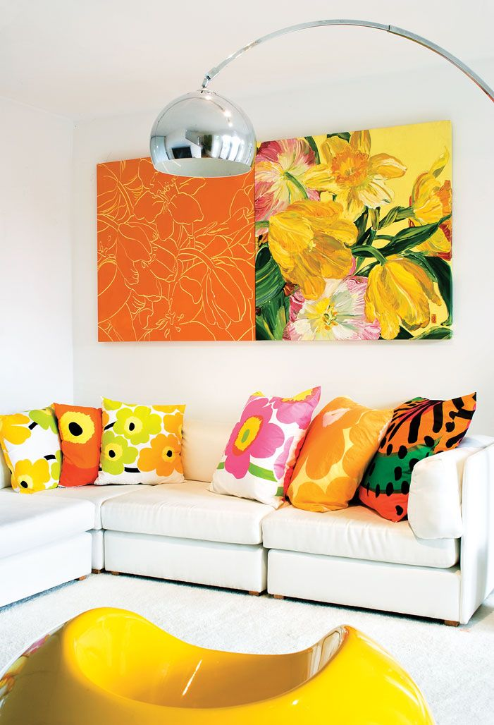 Such a vibrant and happy space #marimekko