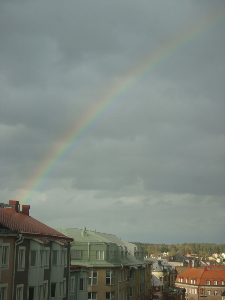 Rainbow. Hudiksvall, Sweden. [photo by Karin Magnusson]