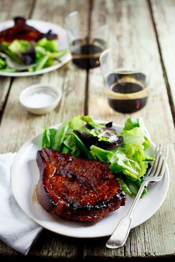 Sticky Honey & Soy Pork Chops by simply-delicious.za #Pork_Chops