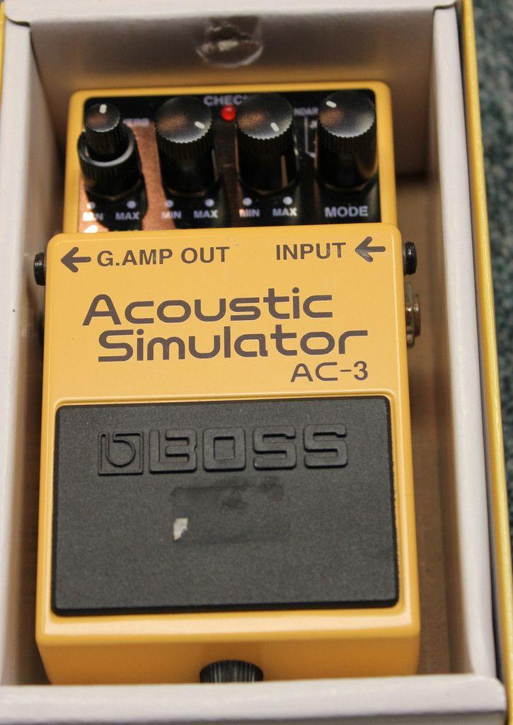 2009 Boss AC-3 Acoustic Simulator Guitar Effects Pedal w/Box