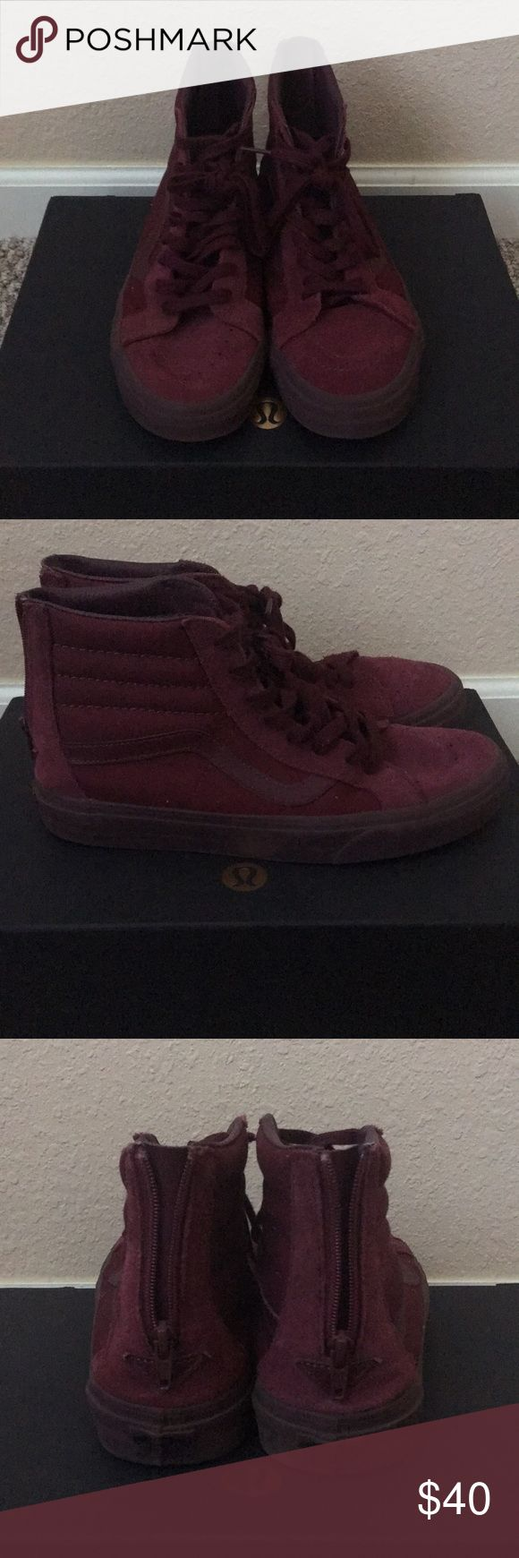 High Top Vans High top burgundy vans. Worn only two times. No box. Shoes Sneakers