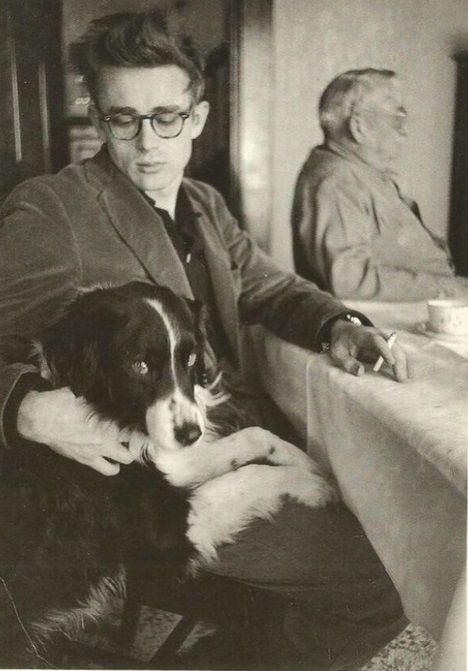 James Dean and dog.