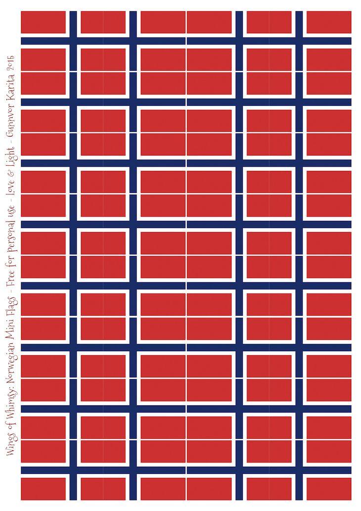 Wings of Whimsy: Norwegian Mini Flags #printable #freebie