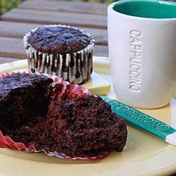Muffins al Cioccolato con Quark e Gelatine alla Ciliegia #ricetta #cucinaitaliana #italianfood #foodporn #foodideas #recipe #chocolate