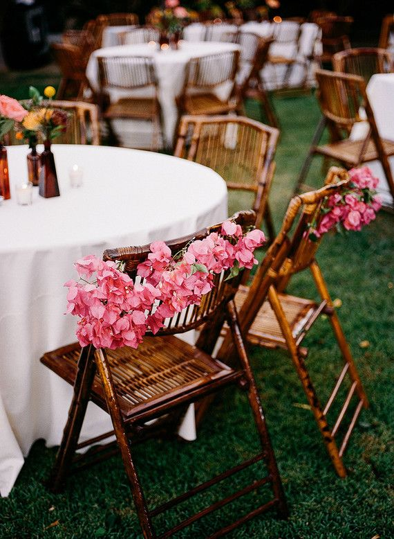 Bougenvilla wedding decor