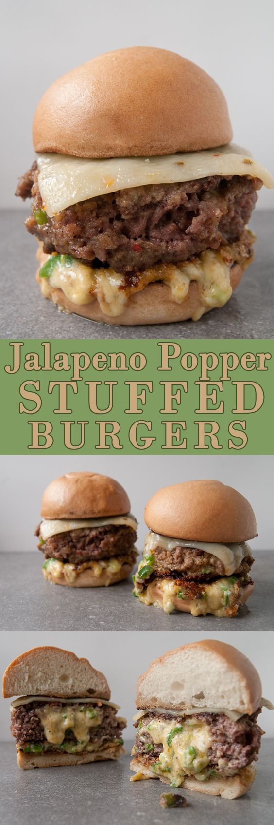 Jalapeno Popper Stuffed Burgers. You guys, these are a serious thing. We made homemade jalapeno dip and stuffed it into a burger. Let that bit of food heaven just sink in for a second. Are you mind blown? I sure was. Because it was THAT good.