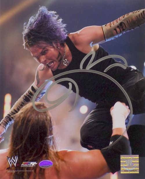Jeff Hardy Signed/Autographed WWE 8x10 Dive Photo SI