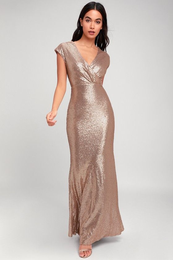 36d695d53d9 Lulus Exclusive! A memory-making evening isn t complete without the Lulus  Always Remember Us Matte Gold Sequin Maxi Dress! Elegant matte gold  sequins