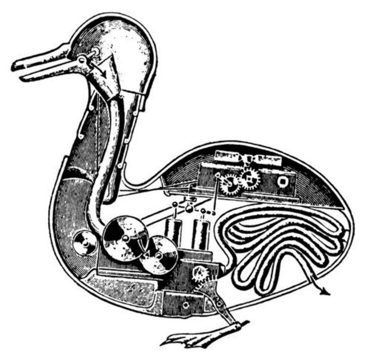 En 1738, Jacques de Vaucanson conçut un automate singulier