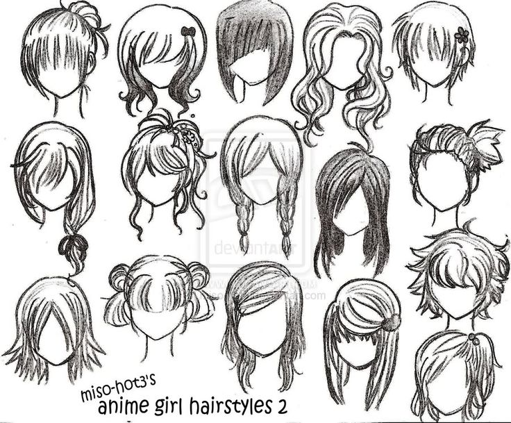 Astonishing 1000 Images About Hair For Drawing On Pinterest Drawings Hair Short Hairstyles Gunalazisus
