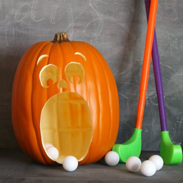 Hi! I'm Kimbo from a girl and a glue gun! I'm here today with a super fun activity…Pumpkin Golf! It is totally perfect for classroom parties at school, trunk or treat game, or just because you need to keep the kids entertained! and the bonus part is that it's super easy and you can reuse …