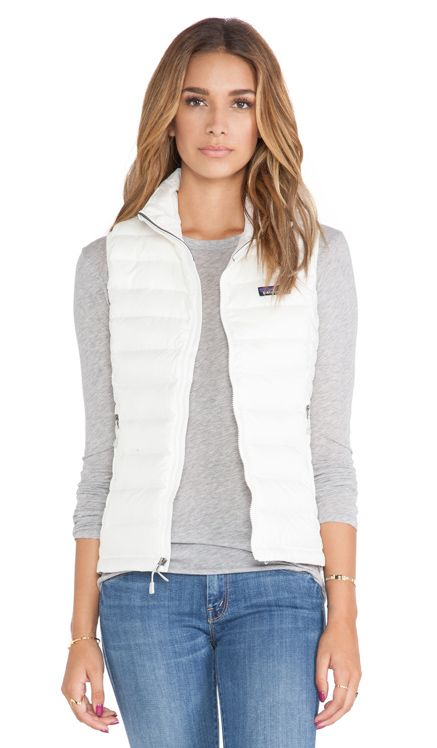Patagonia Down Sweater Vest in Birch White