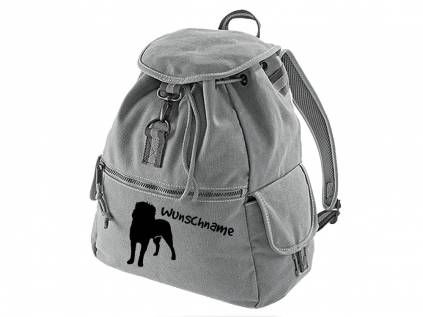 Canvas Rucksack HunderassenCanvas Rucksack Hunderasse: Affenpinscher