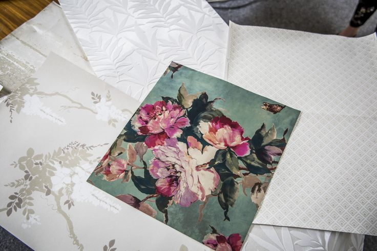 We have a range of complementary wallcoverings from large scale florals, climbing wisteria and contemporary geometrics! Visit our website to order FREE wallpaper samples for a true colour match! #wallpaper #wallcoverings