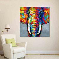 Животное слон картина маслом На Холсте Картины Для Гостиной Стены Искусства Холст Поп-арт современные аннотация ручная роспись обои
