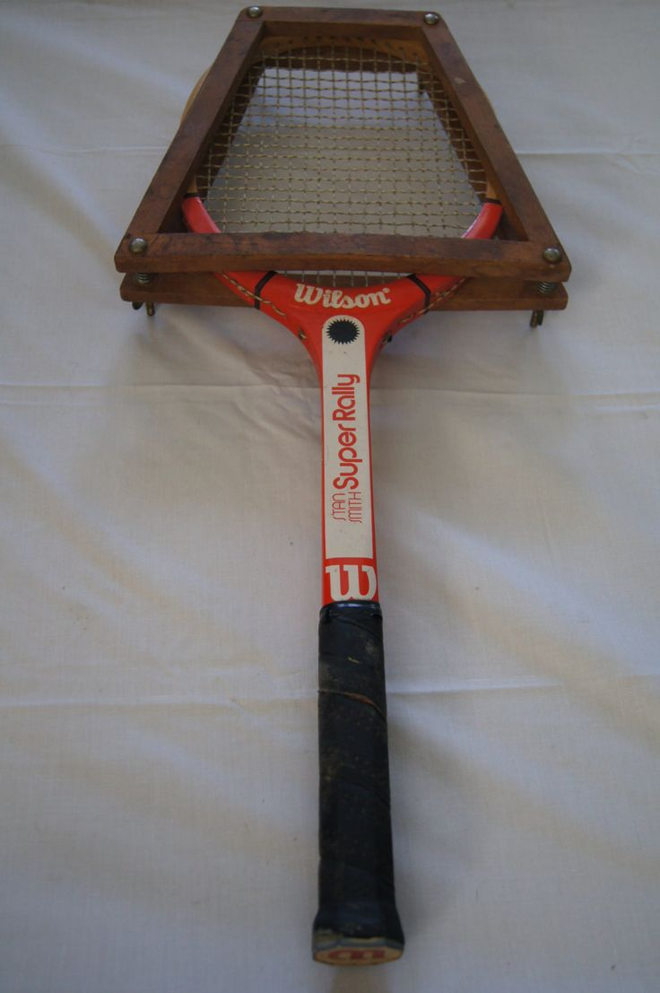 Vintage 1980's - Tennis racquet Stan Smith Super Rally - Wilson Racquet Size 4and a half- 1980's by TheMercerStreetHouse on Etsy