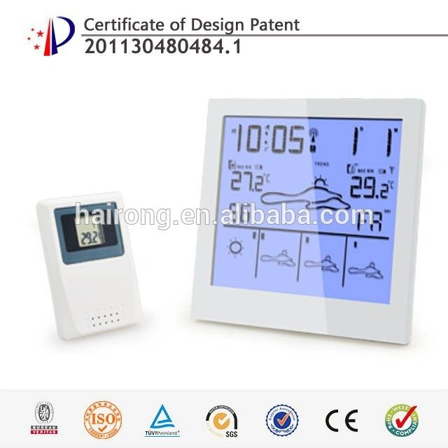 Hairong RCC/RF Clock(5 Days weather forecast clock by air pressure ) Indoor hygrometer