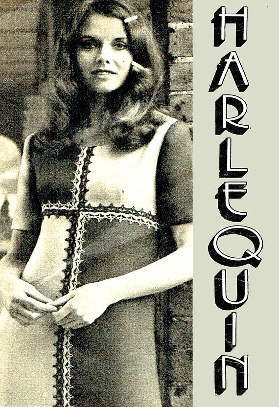 PDF Vintage 1960s Ladies HARLEQUIN Dress Trimming Crochet
