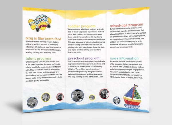 101 best brochures images on Pinterest Brochures, Design layouts - sample preschool brochure