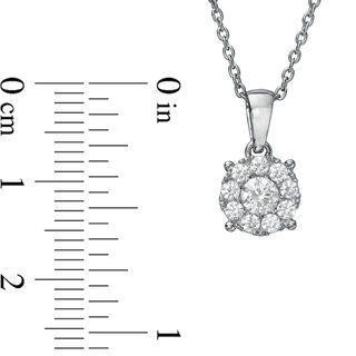 1/2 CT. T.W. Diamond Frame Pendant in 10K White Gold | Diamond Necklaces | Necklaces | Zales