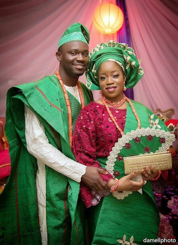 Latest Yoruba Traditional Wedding Attire African Fashion For Braids