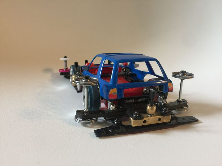 Tamiya mini 4wd. ARFM, Sliding Damper, body lantern damper, hammer rear damper, toyota 4runner body.